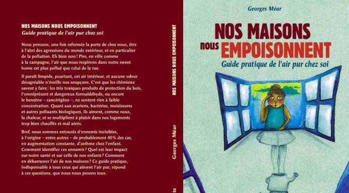 """George Méar, auteur de """"Nos maisons qui nous empoisonnent, guide pratique de l'air pur chez soi"""""""